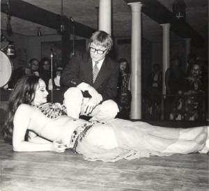 Helena Vlahos, Arte Johnson, belly dance, quarter flipping