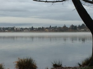 Seattle, Green Lake, fog, JC OBrien